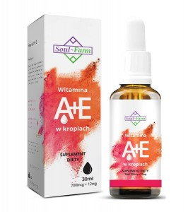 Soul-Farm witamina A+E w kroplach (700mcg+12mg) 30 ml